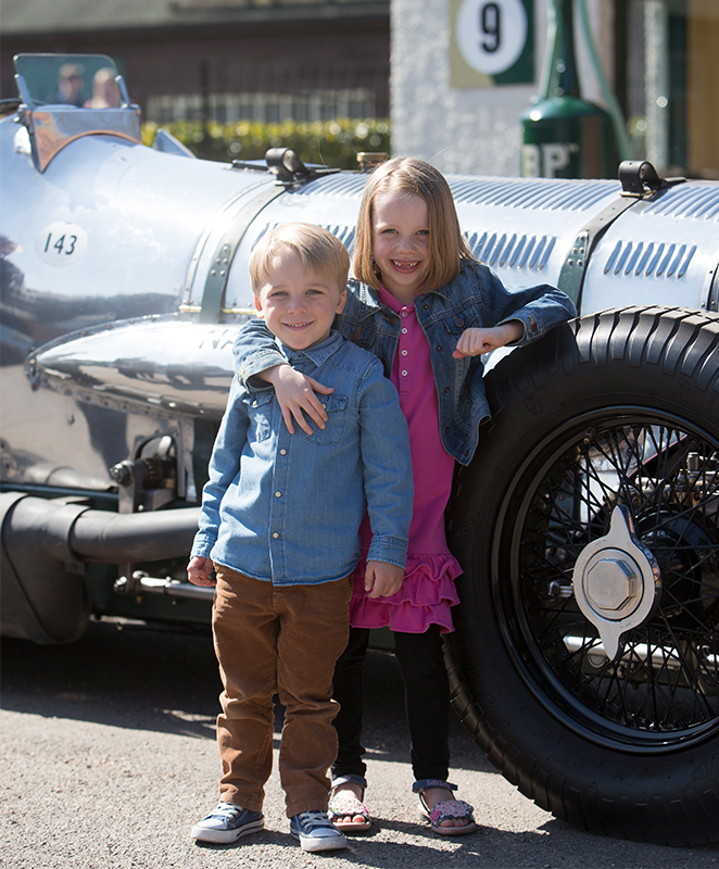 Family visit to the Museum kids with Napier Railton.jpg