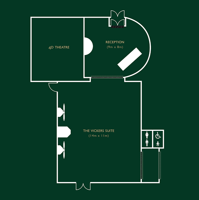 Plan of the Vickers Suite Function Rooms