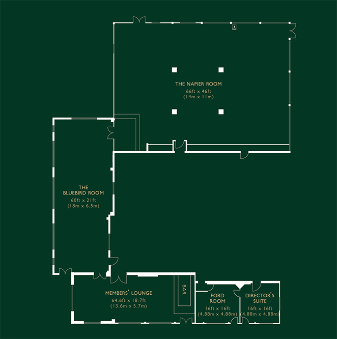 Plan of upstairs of Clubhouse