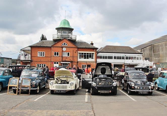 Brooklands Austin Morris Day club house morris minors.jpg