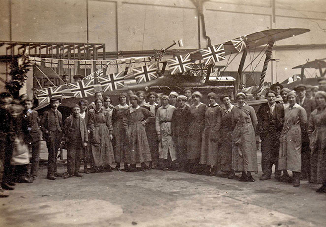 World war 1 aviation industry at Brooklands 1000th se5a.jpg