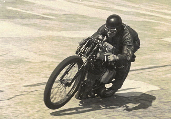 Noel Pope at Brooklands on a 350cc Norton 1939.jpg