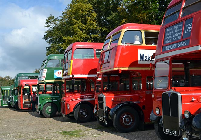 London Bus Museum event buses on finishing straight.jpg