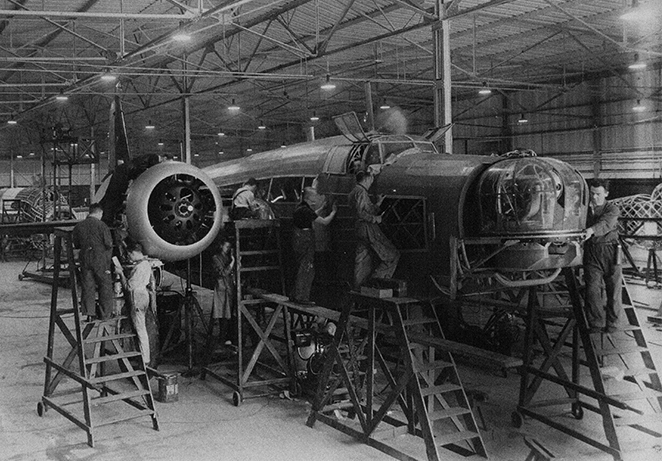 Re-engineering Brooklands archive image wellington production.jpg